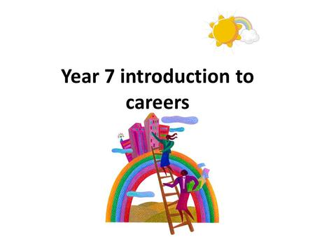 Year 7 introduction to careers. What does Careers Mean?
