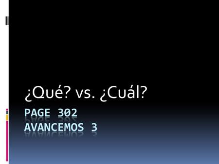 ¿Qué? vs. ¿Cuál?. It is sometimes said that qué is closer to what in meaning, and cuál is closer to which. But that rule isn't always reliable. Here.