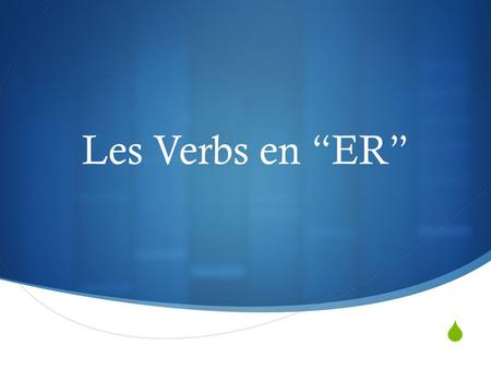 Les Verbs en ER. La Conjugation des Verbs What is la conjugation? Taking the regular form of the verb (to have, to eat, etc) …and changing it to agree.
