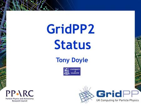 GridPP2 Status Tony Doyle. OC Actions 1.GridPP TO PROVIDE DATA ON WHAT FRACTION OF THE REGISTERED USERS WERE MAKING THE GREATEST USAGE OF THE RESOURCES.