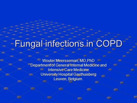 Fungal infections in COPD