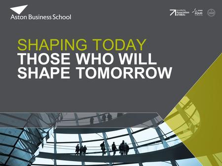 SHAPING TODAY THOSE WHO WILL SHAPE TOMORROW. Differentiation in Higher Education: Does a Background in Economics improve performance? Dr Chris Jones &