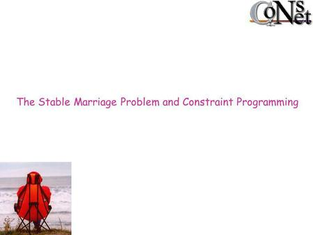 The Stable Marriage Problem and Constraint Programming.
