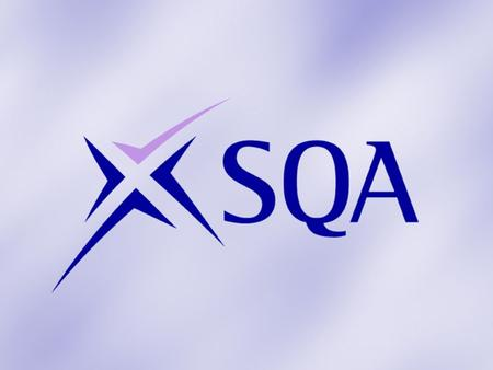SVQ Management Networking Event 7 March 2012 SQA Update Elaine Snell Qualifications Manager
