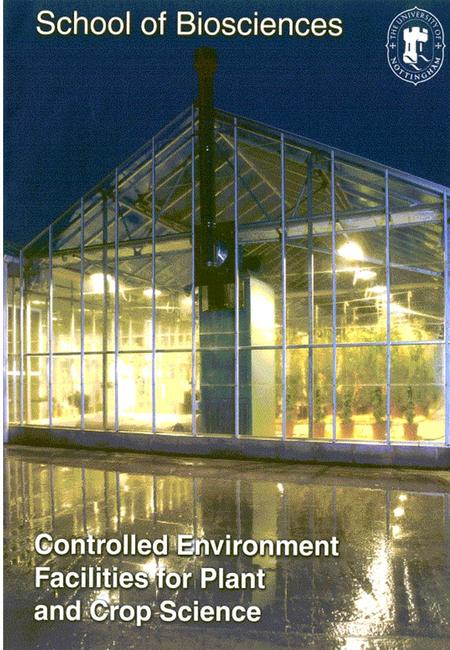 The school is well equipped with a range of facilities, including 46 glasshouse compartments (22 of ACGM standard) for the growth of plants directly in.