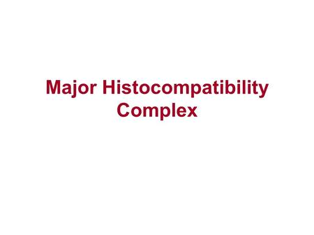 Major Histocompatibility Complex. Principles of Immune Response Highly specific recognition of foreign antigens Mechanisms for elimination of microbes.