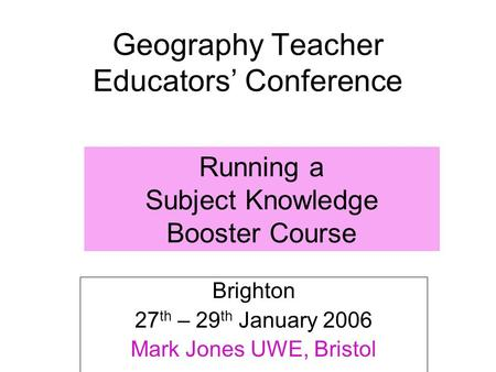Geography Teacher Educators' Conference