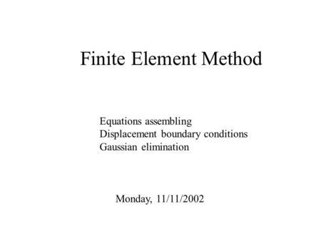 Energy finite element method for high
