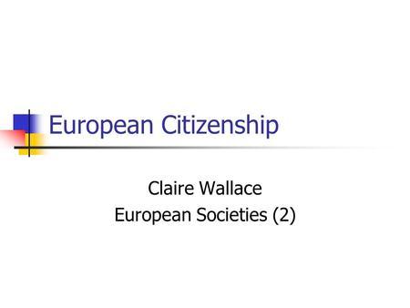 an analysis of european society