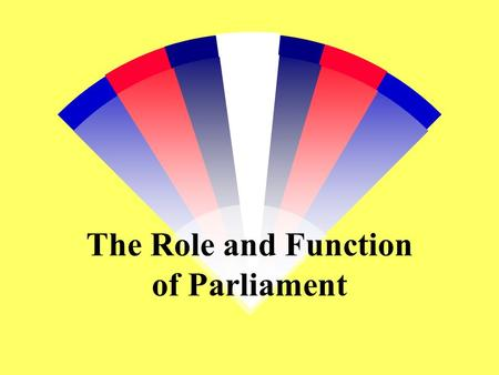 The Role and Function of Parliament 1. Introduction 2. Extent of Parliamentary Power 3. Implications of Parliamentary Sovereignty 4. Functions of Parliament.