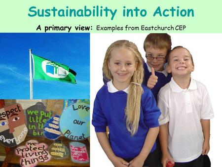Sustainability into Action A primary view: Examples from Eastchurch CEP.