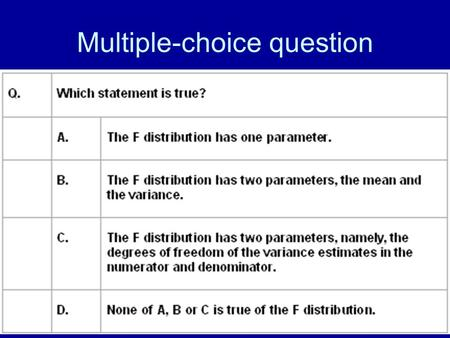 Multiple-choice question