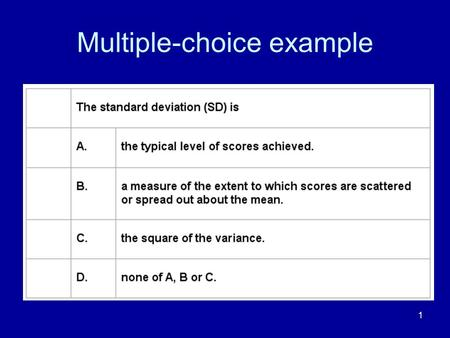 Multiple-choice example