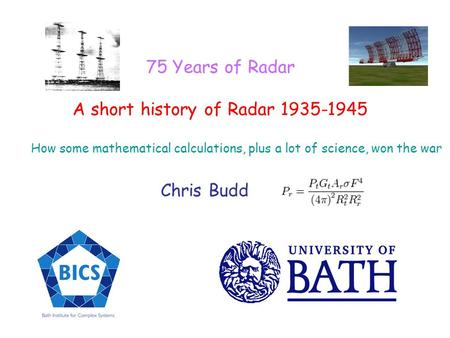 A short history of Radar