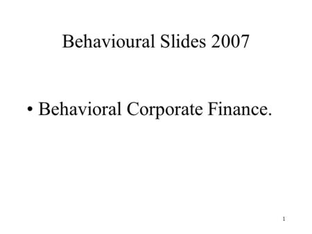 psychology and economics relationship to finance