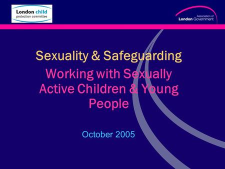 Www.alg.gov.uk Sexuality & Safeguarding Working with Sexually Active Children & Young People October 2005.