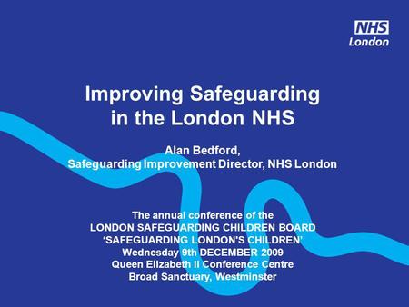 Improving Safeguarding in the London NHS