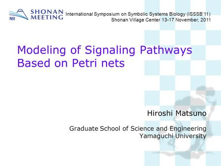 Modeling of Signaling Pathways Based on Petri nets