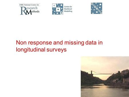 Non response and missing data in longitudinal surveys.