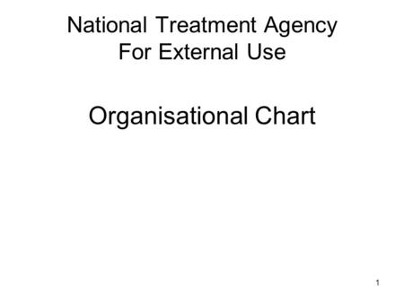 1 National Treatment Agency For External Use Organisational Chart.