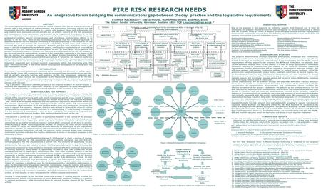 FIRE RISK RESEARCH NEEDS An integrative forum bridging the communications gap between theory, practice and the legislative requirements. STEPHEN MACKENZIE*,