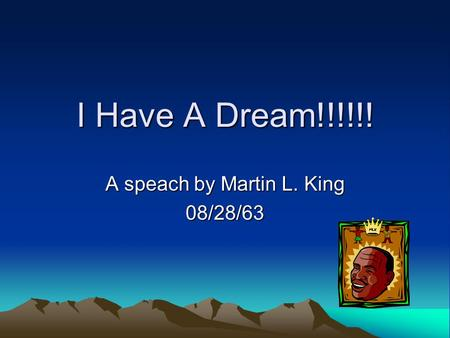 A speach by Martin L. King 08/28/63
