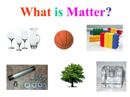 What is Matter?. Matter is… Everything we see around us: GlassMetal Plastic BonesBreath.