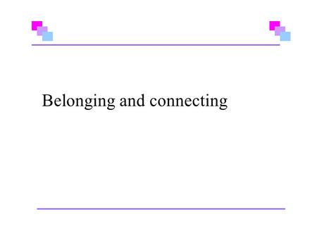 Belonging and connecting. The Aims and Principles A Stirling Perspective.