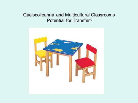 Gaelscoileanna and Multicultural Classrooms Potential for Transfer?