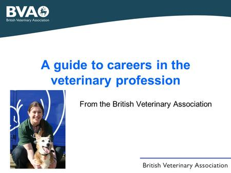 A guide to careers in the veterinary profession From the British Veterinary Association.