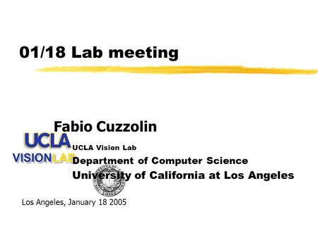 01/18 Lab meeting Fabio Cuzzolin