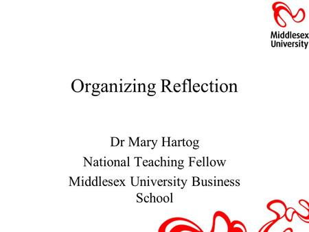 Organizing Reflection