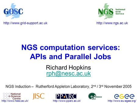 NGS computation services: APIs and.