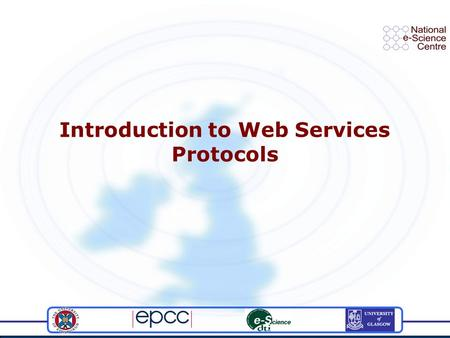 Introduction to Web Services Protocols. Talk titledate2 Communication and standards Efficient (or indeed any) communication is dependent on a shared vocabulary.