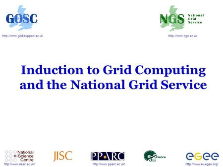 Induction to Grid Computing and.