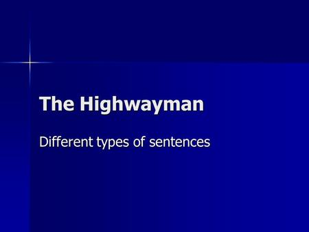Different types of sentences