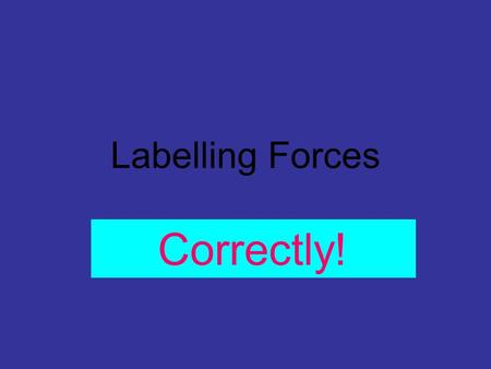 Labelling Forces Correctly!.