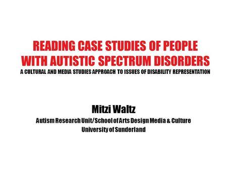 autism case studies examples