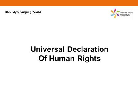 Universal Declaration Of Human Rights SEN My Changing World.