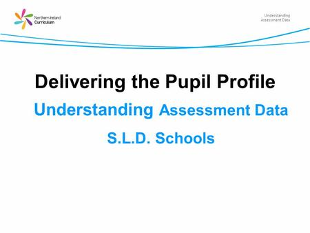 Understanding Assessment Data Delivering the Pupil Profile Understanding Assessment Data S.L.D. Schools.