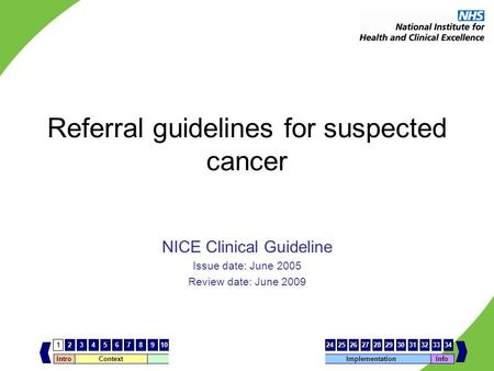 Referral guidelines for suspected cancer