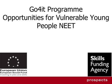 Go4it Programme Opportunities for Vulnerable Young People NEET.