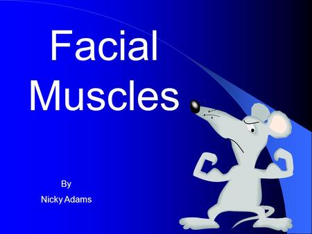 Facial Muscles By Nicky Adams We are going to explore the various facial muscles Then learn the various functions of these muscles AIMS.