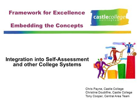 Framework for Excellence Embedding the Concepts Integration into Self-Assessment and other College Systems Chris Payne, Castle College Christine Doubtfire,