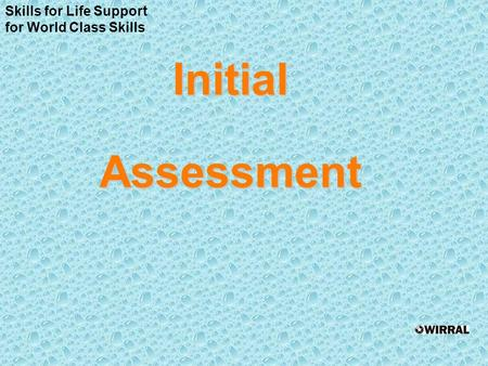 InitialAssessment Skills for Life Support for World Class Skills.