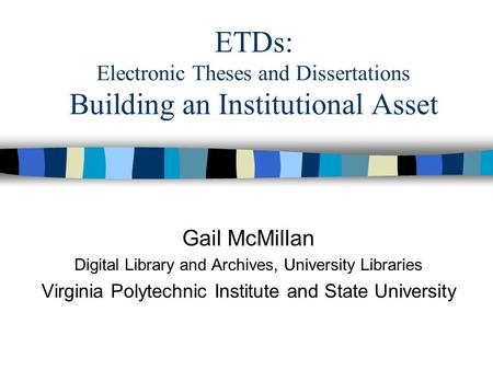 electronic theses and dissertations etds collections 3417 electronic theses and dissertations (etds) electronic theses & dissertations (etds)  call # to any records that do not have a special collections call .