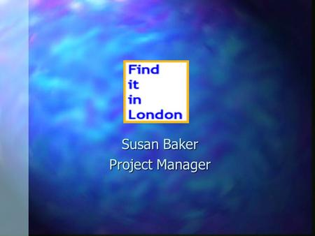 Susan Baker Project Manager.  What is FiiL? n Web based look up tool n Collection level descriptions n Cross sector and cross domain.