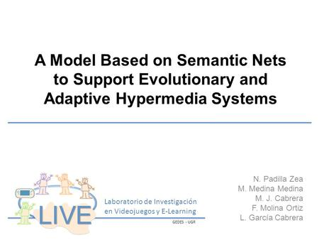 A Model Based on Semantic Nets to Support Evolutionary and Adaptive Hypermedia Systems N. Padilla Zea M. Medina Medina M. J. Cabrera F. Molina Ortiz L.