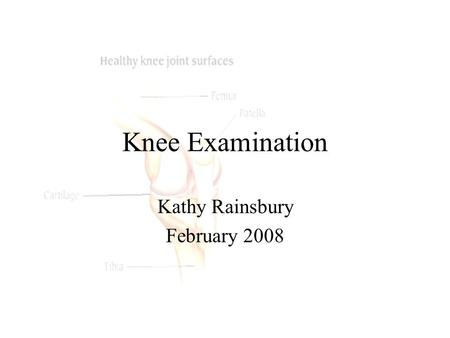 Kathy Rainsbury February 2008