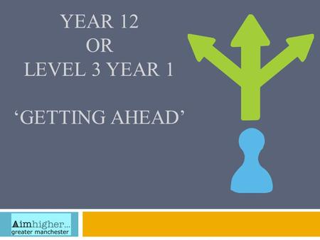 Year 12 or Level 3 Year 1 'Getting Ahead'
